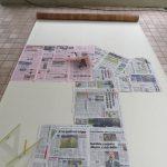 Creazione pavimento caravan