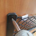 Montaggio rete portaoggetti
