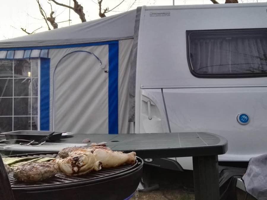 griglia in campeggio