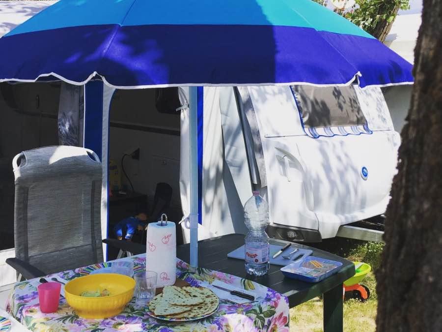 mangiare in campeggio