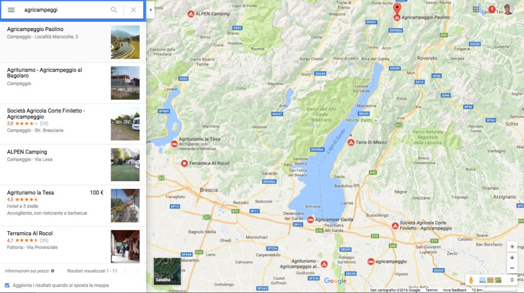 campeggio in inverno google map agricampeggi