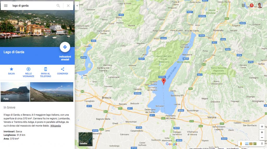 campeggio in inverno google map lago di garda