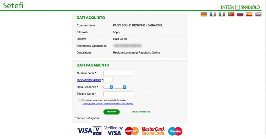 bollo roulotte pagamento online