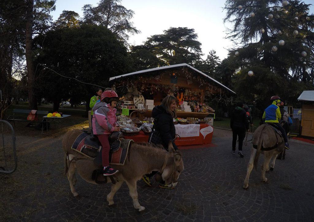 mercatini di natale arco giro con asino