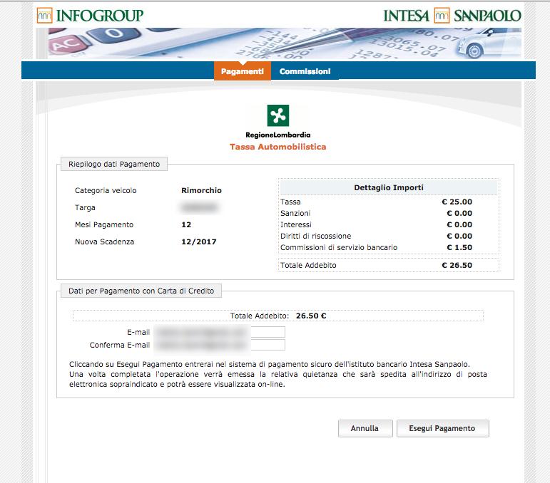 pagamento bollo roulotte online