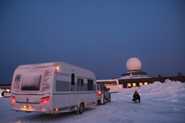 Capo nord in inverno con la caravan