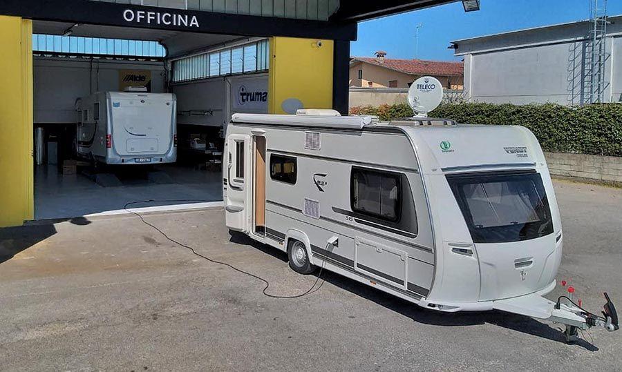 Installazione parabola camper e caravan