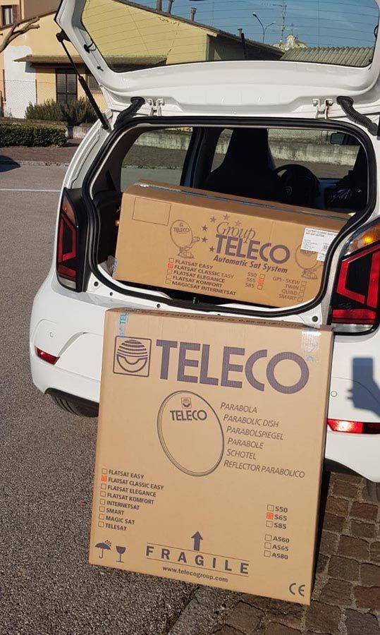 Imballi prodotti Teleco