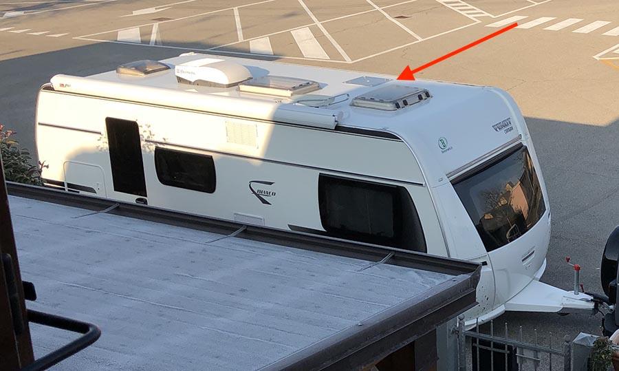 Predisposizione parabola satellitare caravan
