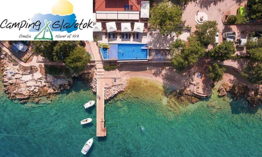 camping glavotok krk croazia mare
