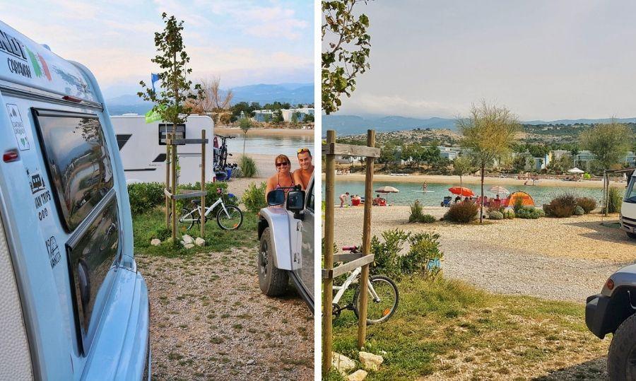 Camping Krk Omisalj piazzola premium