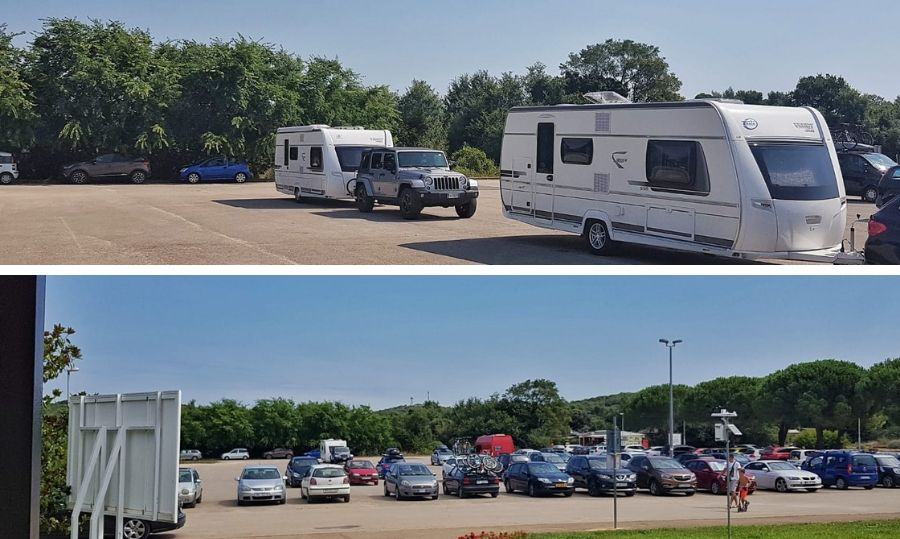 camping polari parcheggio esterno