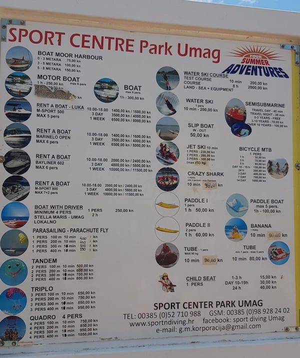 camping umag sport acquatici