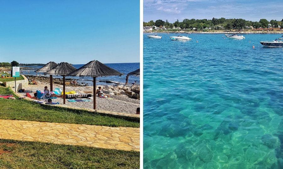 spiaggia e mare in istria