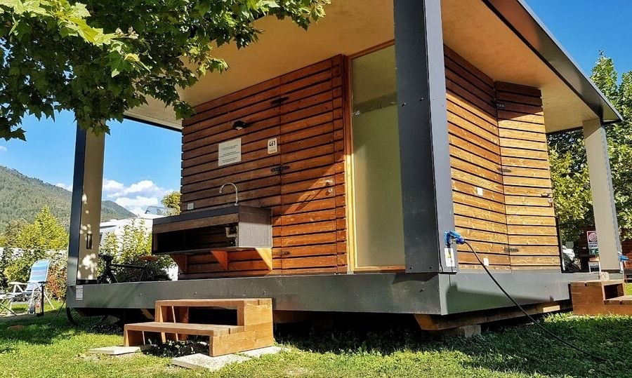 lago levico camping village bagno privato