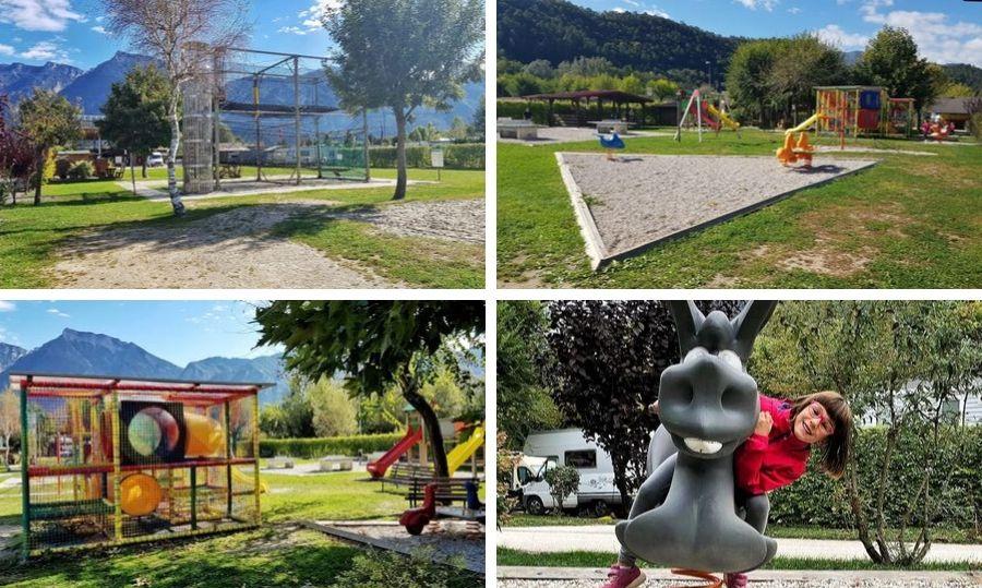lago levico camping village parco giochi